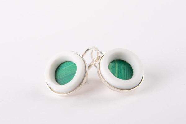 boucle-d-oreille-femme-pendante-vert-emeraude-porcelaine-de-limoges-latelierdublanc