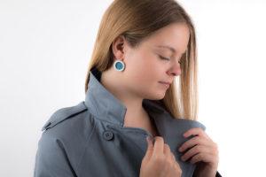 boucle d oreille pendante femme luxe argent porcelaine de limoges latelierdublanc