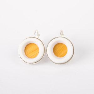dormeuse-boucle-d-oreille-argent-medaillon-jaune-paille-porcelaine-blanche-latelierdublanc